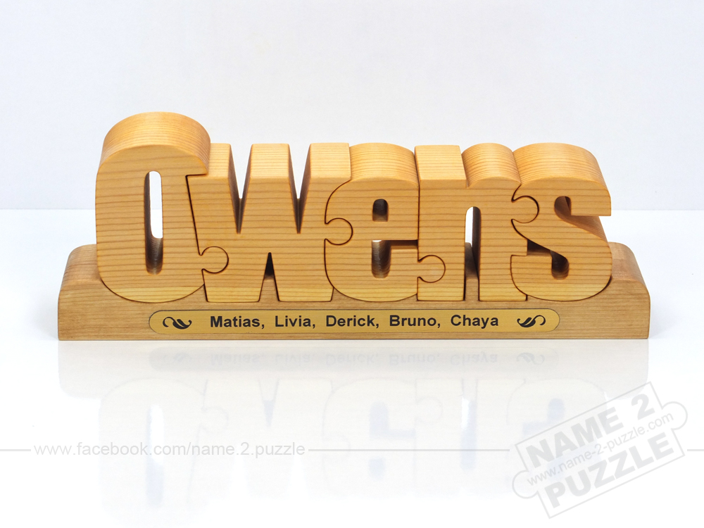 Name Puzzles  = Gifts for Valentine, birthday, christening, wedding, anniversary