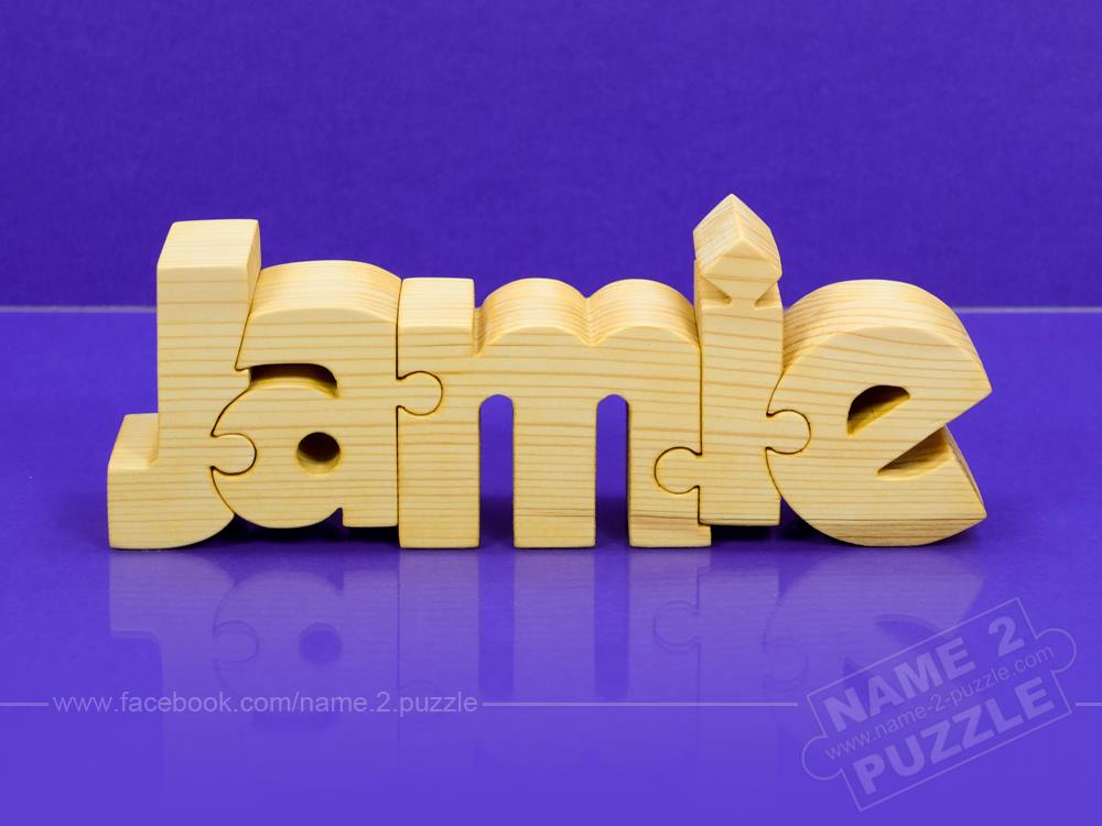 Gifts from wood, name puzzle