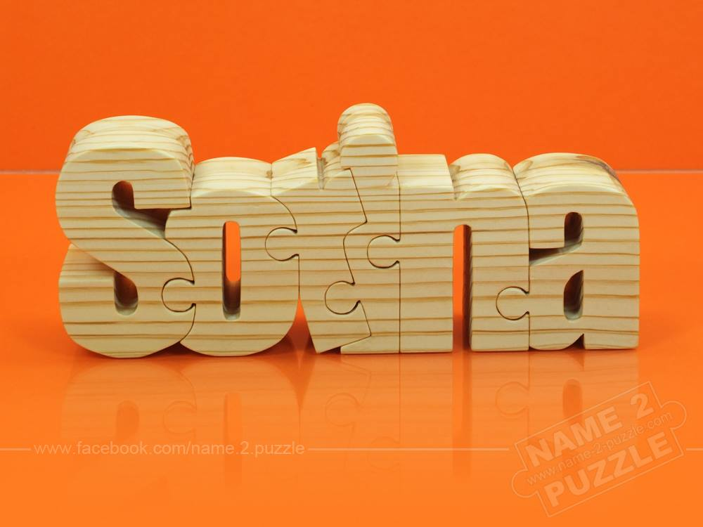 Wooden Name Puzzle Color