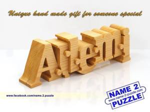 Wooden name puzzles