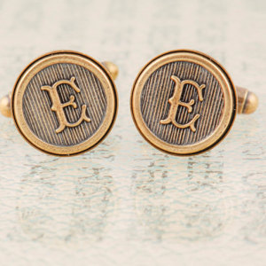 letter-e-cufflinks-or-choose-your-initials-custom-initial-cufflinks-wedding-cufflinks-groomsmens-gifts-made-to-order-antiqued-brass