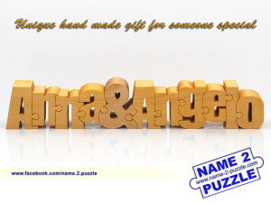 Two name wooden puzzle gifts